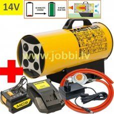 Master BLP 17 M DC 14V (1x3,0Ah) gāzes sildītājs + reduktors, šļūtene + adapters 230V