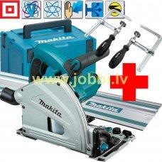 Makita SP6000J plunge circular saw + guiderail 1,5m + clamps