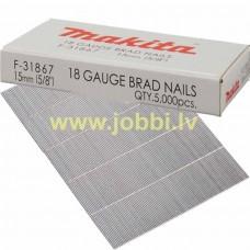 Makita F-31867 nails 18GA 1,2x15mm (5000pcs)